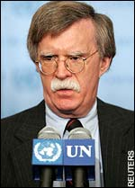 is john bolton blackmailing those who'd vote him out of UN post?