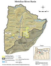 Metolius River Location Map