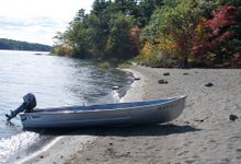 The yacht on Androscoggin