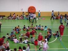 Selecção Nacional de Basquetebol com o B.C.C.