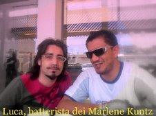 Paolo e Luca batterista dei Marlene Kuntz