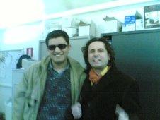 Paolo con Gianni Drudi - dietro le quinte prima di calcare le scene