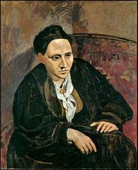 Gertrude Stein por Picasso, un cuadro muy conocido y muy emblemático
