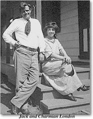 """Jack London y Charmian, su mujer """"compañera"""""""