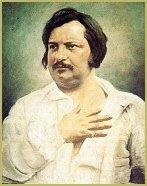 Un retrato pictórico del escritor francés Honorato de Balzac (1799-1850)