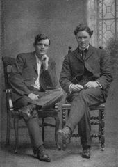 Jack London en su juventud y Alexander Irvine, un amigo suyo