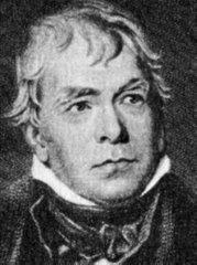 El escritor escocés Walter Scott (1771-1832) Fue el mentor de la novela histórica, siendo pionero