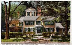 Fotografía de la casa del escritor Nathaniel Hawthorne