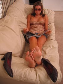 The Hot Barefoot Babysitter!