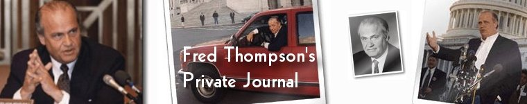 Fred Thompson's Private Journal
