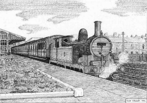 STEAM TRAIN AT BLYTH