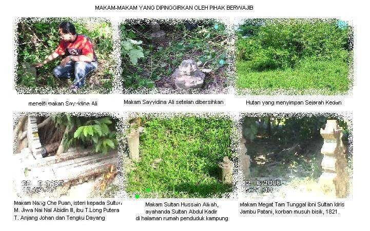 >>Makam-makam yang dipinggirkan di Kedah.