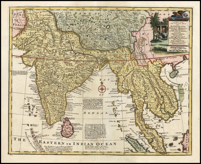 Peta tahun 1744