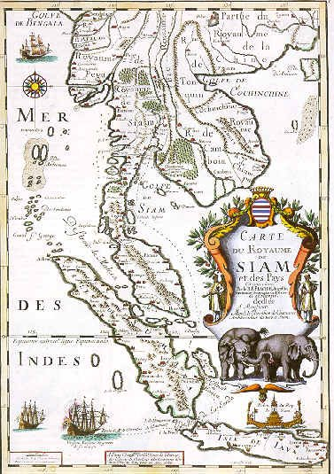 &gt;&gt;PETA JAJAHAN EMPAYAR ISLAM BENUA SIAM NAGARA KEDAH PADA TAHUN 1730.