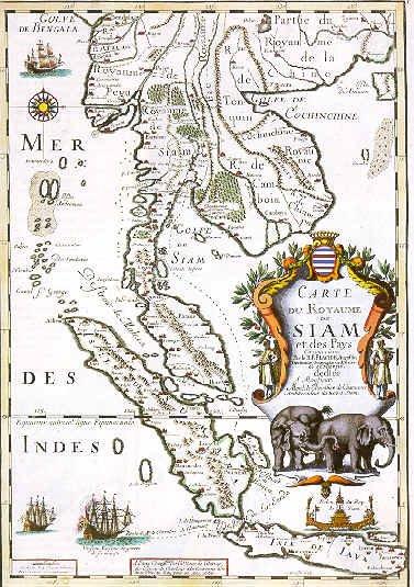 >>PETA JAJAHAN EMPAYAR ISLAM BENUA SIAM NAGARA KEDAH PADA TAHUN 1730.