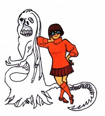Velma and monster