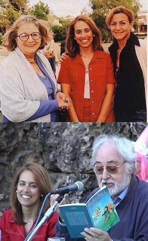 Luisa com três grandes actores portugueses