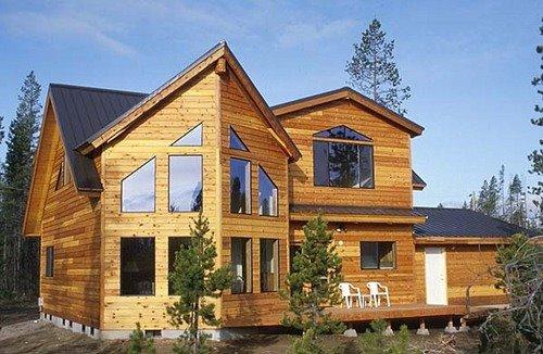 Casa terminada en madera