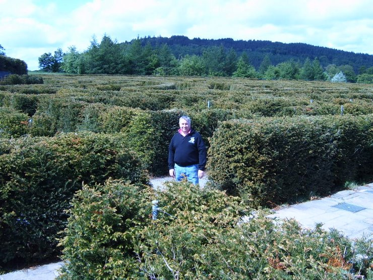 Graham visits the Maze