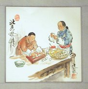 Chinese Women Cooking