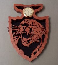 Cougar Arrowhead Clock