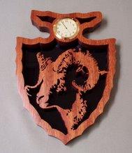 Bighorn Sheep Arrowhead Clock