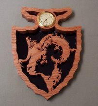 Bighorn Sheep Arrowhead Clock