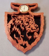 Bear Arrowhead Clock
