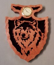 Wolf Arrowhead Clock