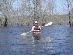 Gary paddling on the Nerepis.