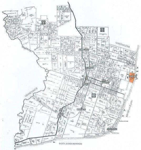 Mapa Rural Distrito Punta Indio
