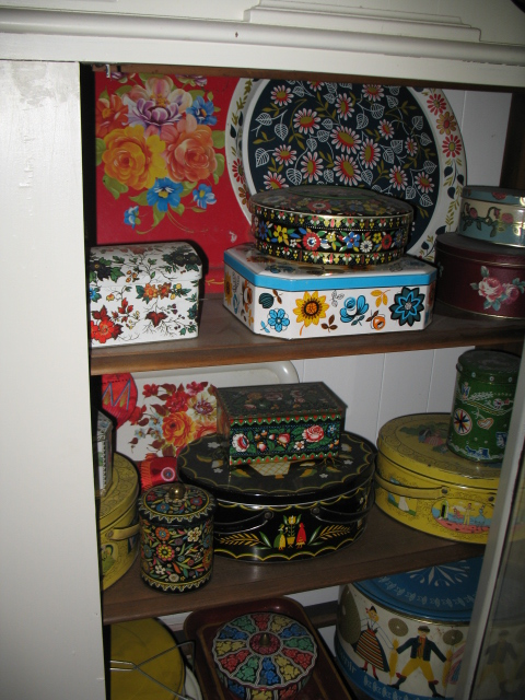 Thrift Store Collections - Painted Tins