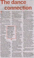 Article in The Star paper, 7th January 2007