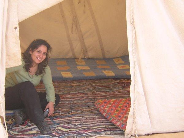 Dit was onze tent
