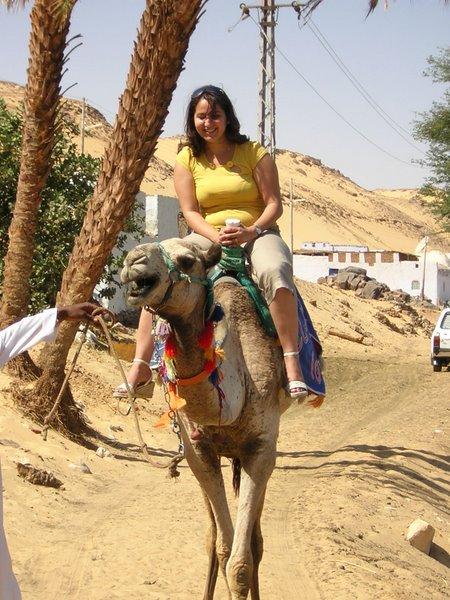 Souad op kameel