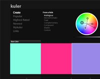 The Kuler color wheel