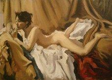 """Boceto """"Desnudo en Reposo"""""""