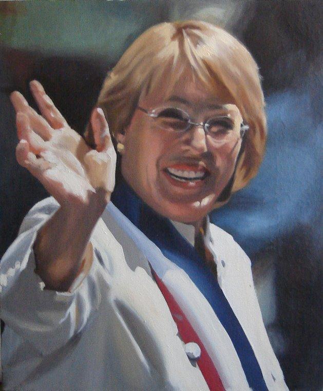 Retrato de Michelle Bachelet,