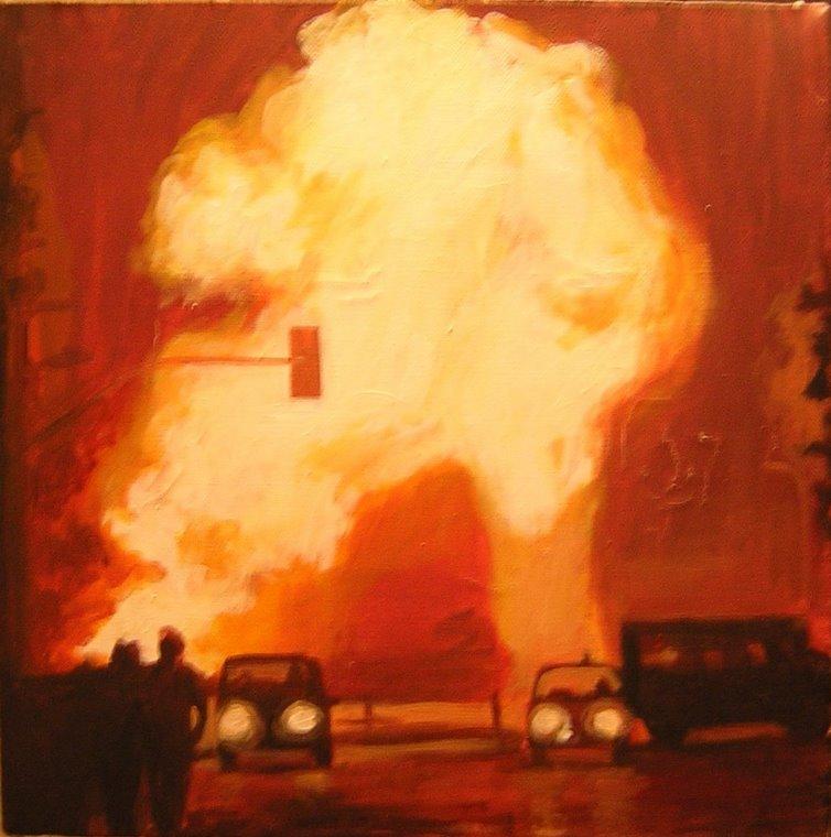 """""""Explosión"""" acrilico sobre tela."""