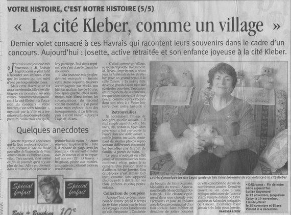 Article de la Presse Havraise du 11/12/2006