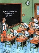 """Old-School Management Training"""