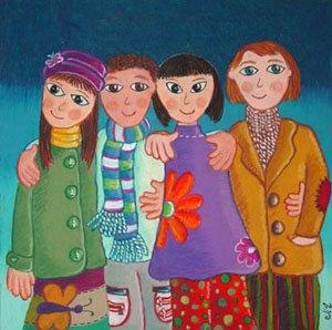 Amigos Inseparables (25 x 25 cms.)