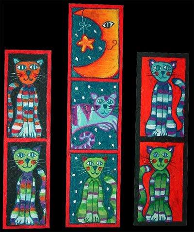 Ventanas de gatos (laterales: 19 x 5 y centro: 24,5 x 6 cms.)