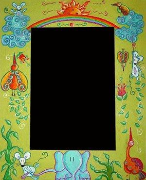 Marco: arco iris verde (32 x 45 cms.)