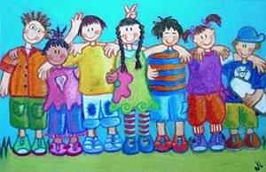 Amigos (14 x 20 cms.)