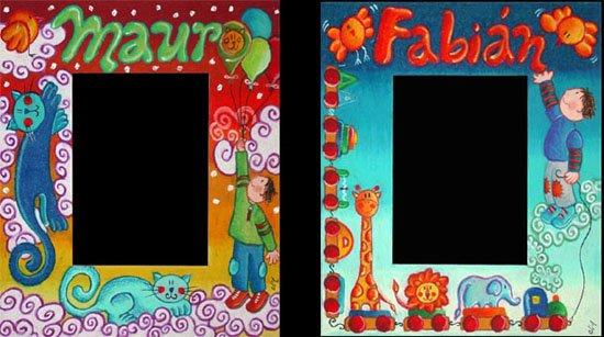Un marco para Mauro y un marco para Fabián (25 x 30 cms. c/u para fotos de 13 x 18)