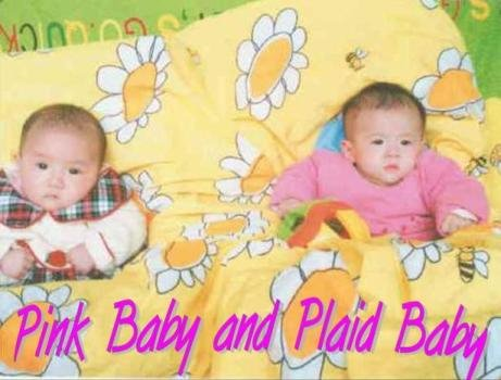 Pink Baby and Plaid Baby