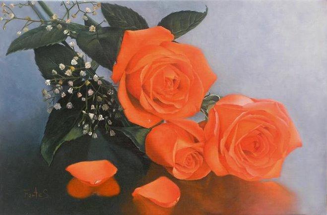 Pétalos y rosas