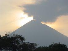 San Cristobal Volcano at dawn