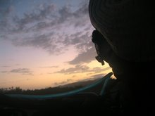 Dawn from bed on roadside